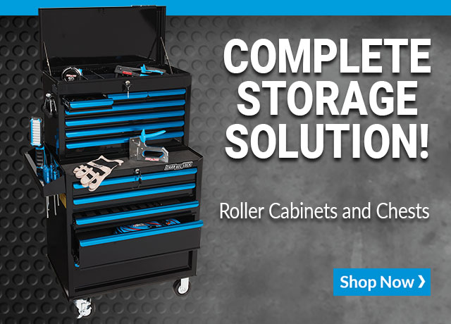 Complete storage solution! Roller cabinets and chests. Shop now
