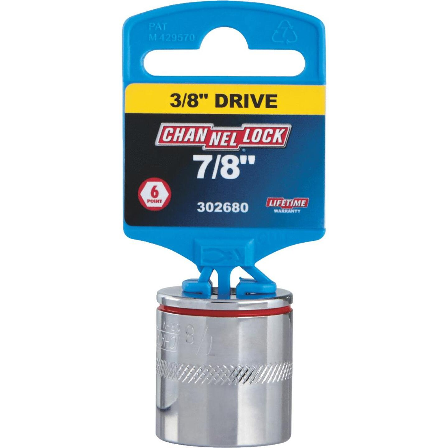 Channellock 3/8 In. Drive 7/8 In. 6-Point Shallow Standard Socket Image 2