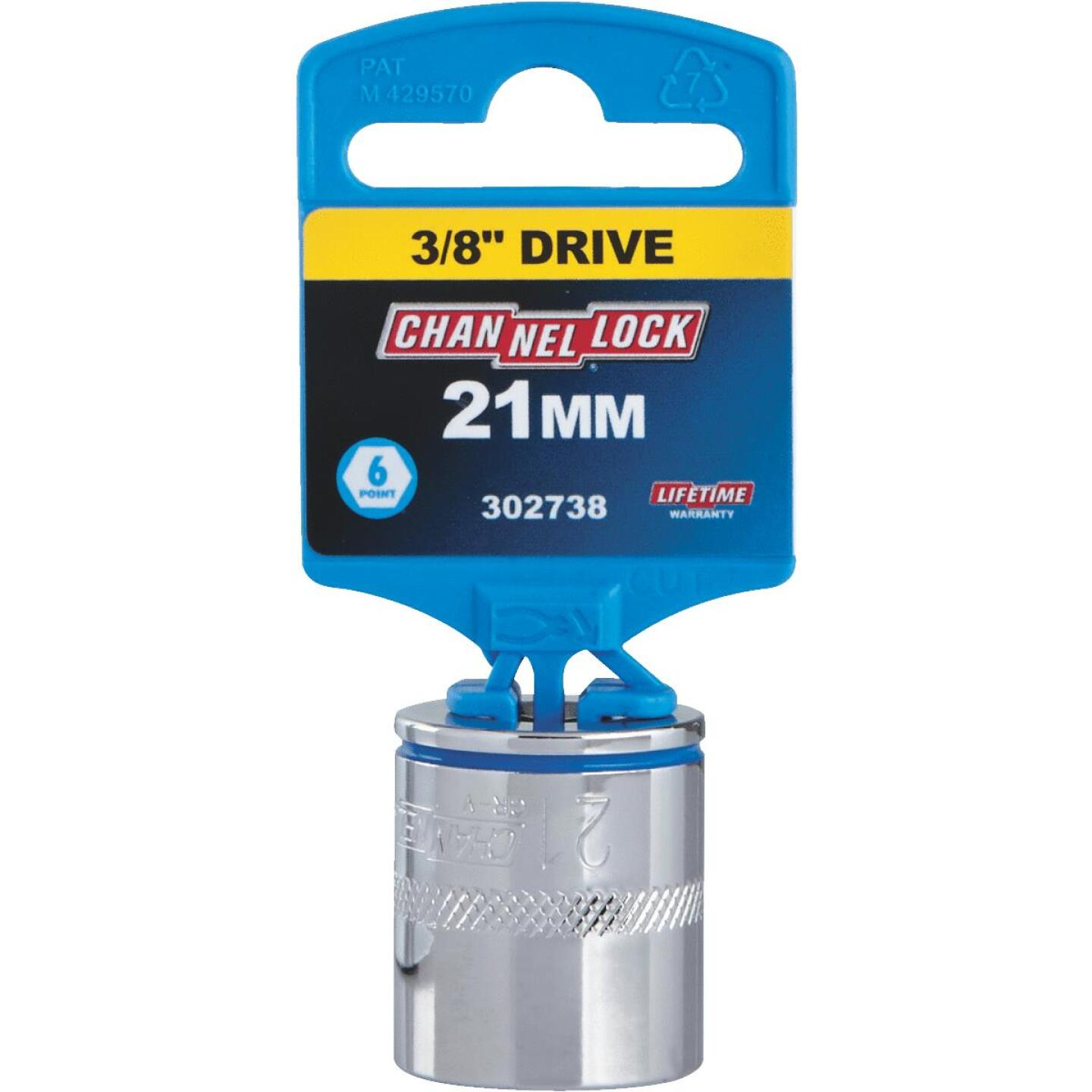 Channellock 3/8 In. Drive 21 mm 6-Point Shallow Metric Socket Image 2