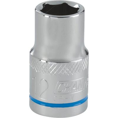 Channellock 1/2 In. Drive 12 mm 6-Point Shallow Metric Socket