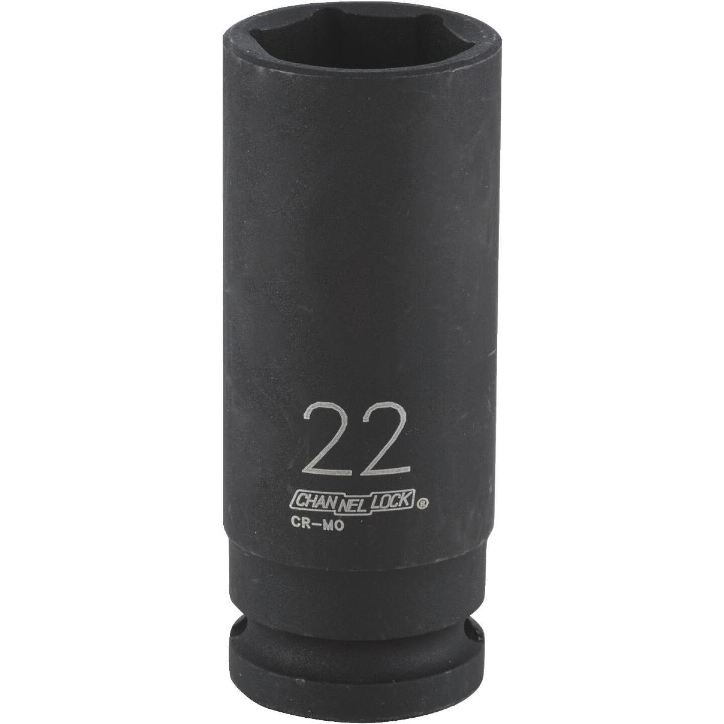 Channellock 1/2 In. Drive 22 mm 6-Point Deep Metric Impact Socket Image 1