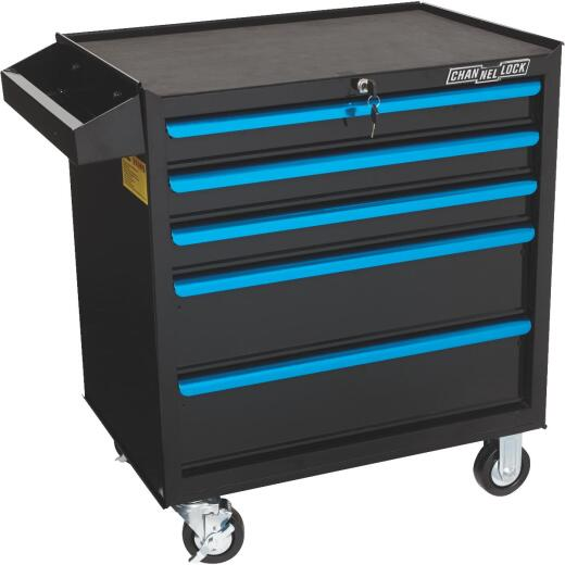 Channellock 26 In. 5-Drawer Tool Roller Cabinet