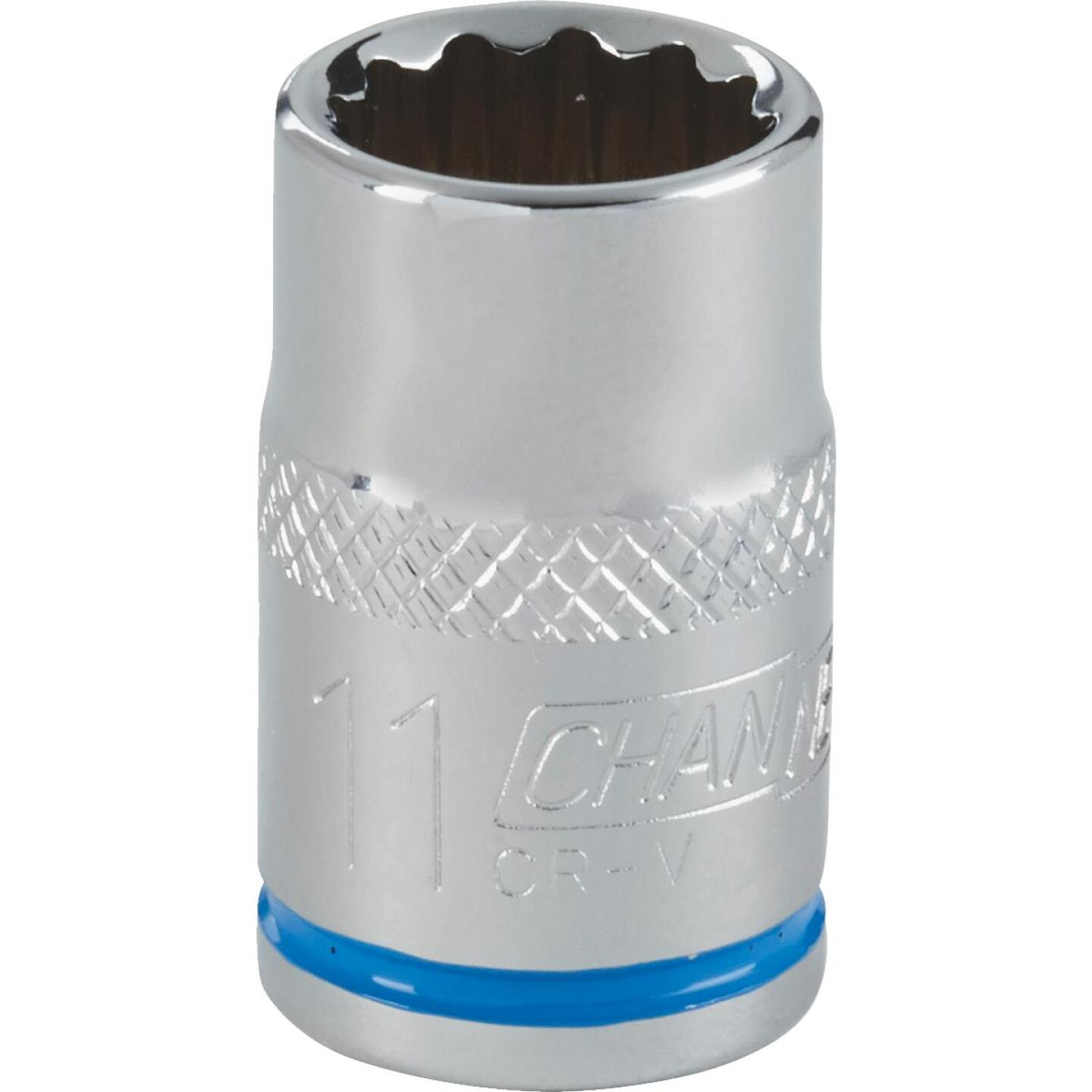 Channellock 3/8 In. Drive 11 mm 12-Point Shallow Metric Socket Image 1