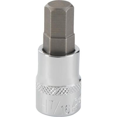Channellock 3/8 In. Drive 7/16 In. 6-Point Standard Hex Bit Socket