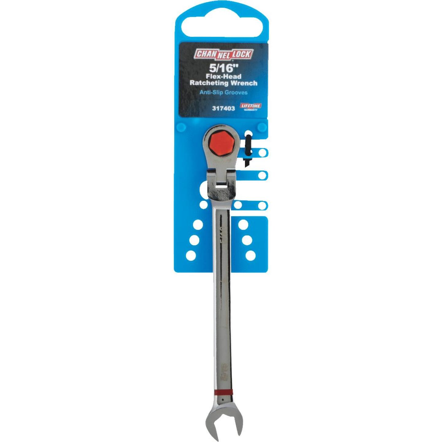 Channellock Standard 5/16 In. 12-Point Ratcheting Flex-Head Wrench Image 2