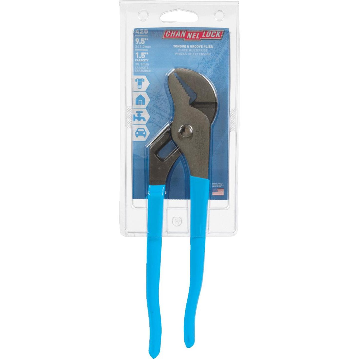 Channellock 9-1/2 In. Straight Jaw Groove Joint Pliers Image 2