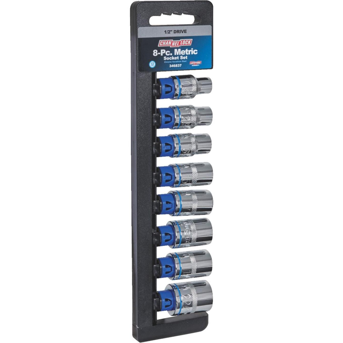 Channellock Metric 1/2 In. Drive 12-Point Shallow Socket Set (8-Piece) Image 1