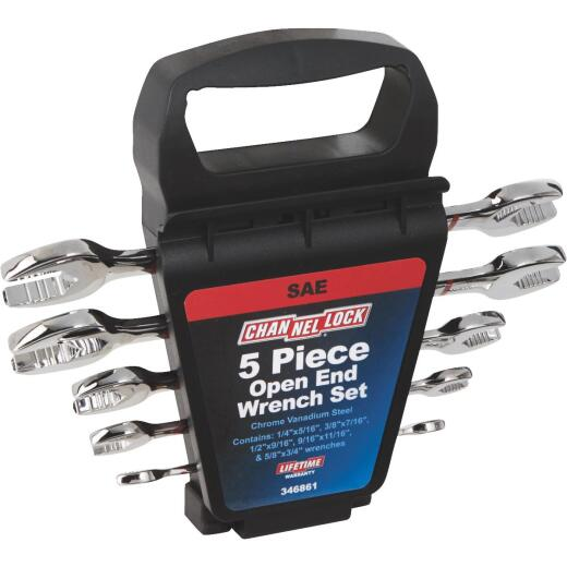 Channellock Standard Open End Wrench Set (5-Piece)