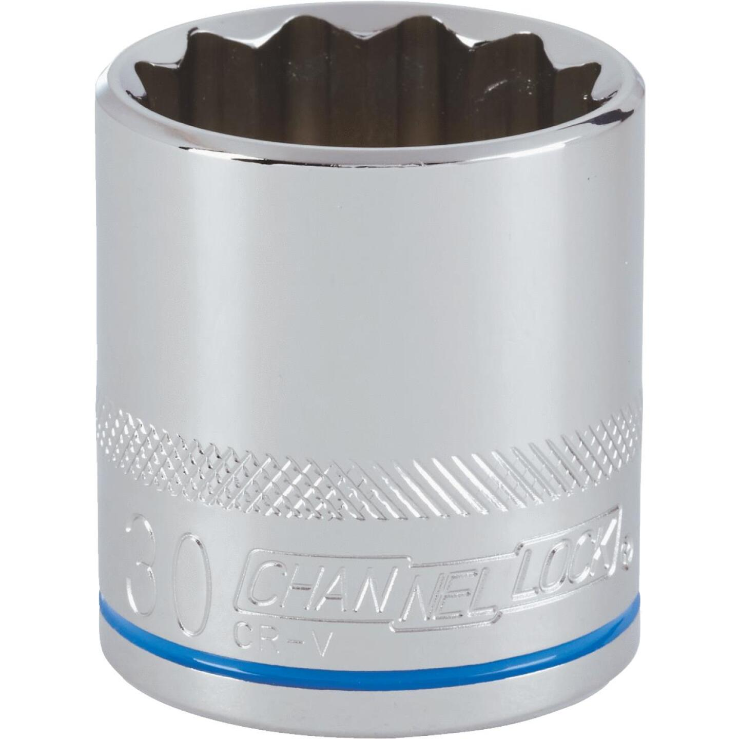 Channellock 1/2 In. Drive 30 mm 12-Point Shallow Metric Socket Image 1