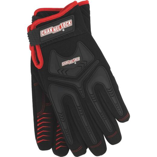 Channellock Men's Large Synthetic Leather Heavy-Duty Mechanics Glove, Black